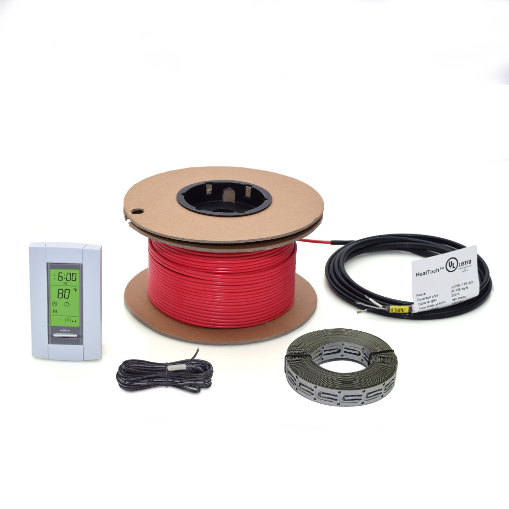 Electric Radiant Floor Heating Cable Kits