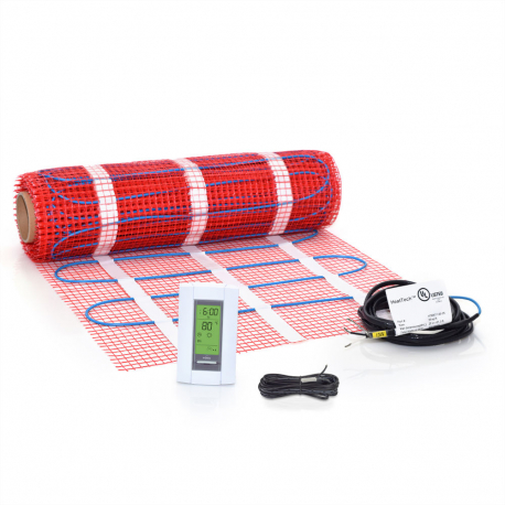 Floor Heating Mat Kit With Thermostat